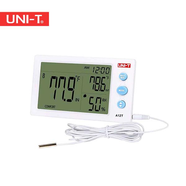 خرید دماسنج و رطوبت سنج ارزان قیمت محیطی یونیتی UNI-T A12T