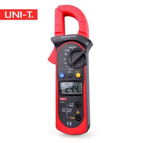 خرید مولتی متر کلمپی و کلمپ متر و آمپرمتر کلمپی ارزان قیمت یونیتی 201 یا Uni-T UT201